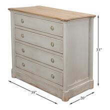 Petit Commode W/Drawers,Soft White/Grey