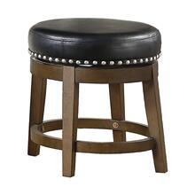Round Swivel Stool, Black