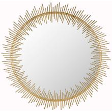 See Details - Sunray Circle Mirror - Antique Gold