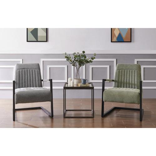 Jonah KD Fabric Accent Arm Chair, Sage Gray/Velvet Gray