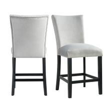 Product Image - Francesca Gray Velvet Counter Height Chair Set