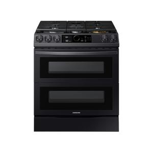 Samsung Appliances6.0 cu. ft. Flex Duo™ Front Control Slide-in Gas Range with Smart Dial, Air Fry & Wi-Fi in Black Stainless Steel