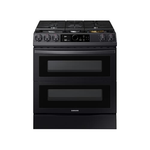 6.0 cu ft. Smart Slide-in Gas Range with Flex Duo™, Smart Dial & Air Fry in Black Stainless Steel