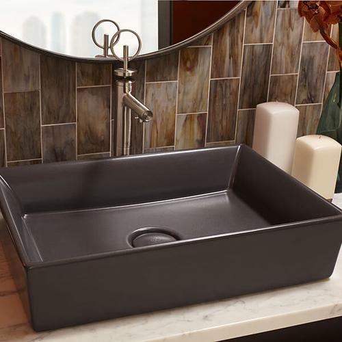Dxv - Pop Rectangle Vessel Bathroom Sink - Chenille Gray
