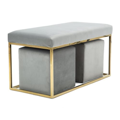 Product Image - Lila Tri Velvet Bench Set by Inspire Me! Home Decor