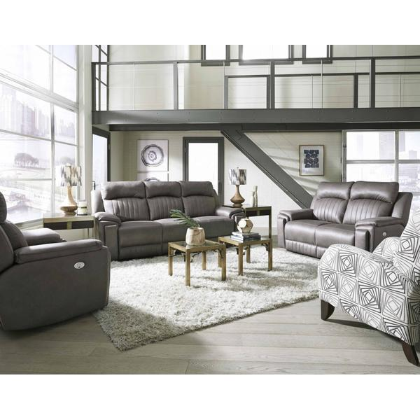 Power Headrest Loveseat with Console & Arm Cupholders