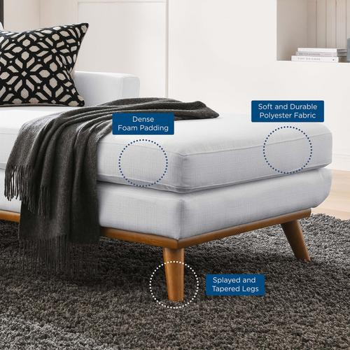 Modway - Engage Right-Facing Upholstered Fabric Chaise in White