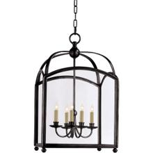 Visual Comfort CHC3425BZ E. F. Chapman Arch Top 5 Light 20 inch Bronze Foyer Pendant Ceiling Light