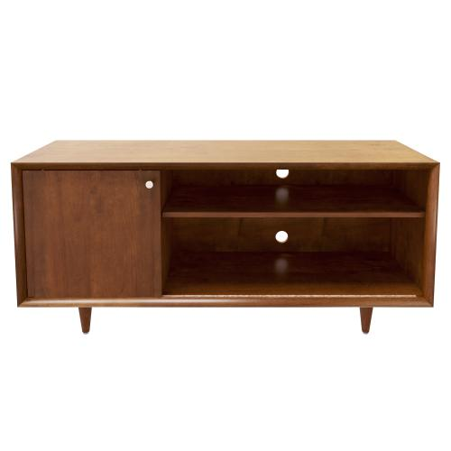 Bello - Fairgrove TV Stand for TVs up to 60 inches, Mahogany Cherry