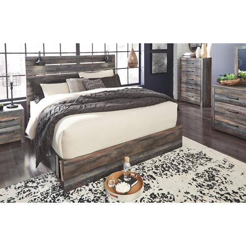 Drystan King Panel Bed With 2 Storage Drawers
