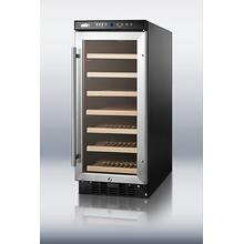 "15"" wide wine cellar for built-in or freestanding use, with digital controls and LED light; replaces SUMMIT SWC1530"