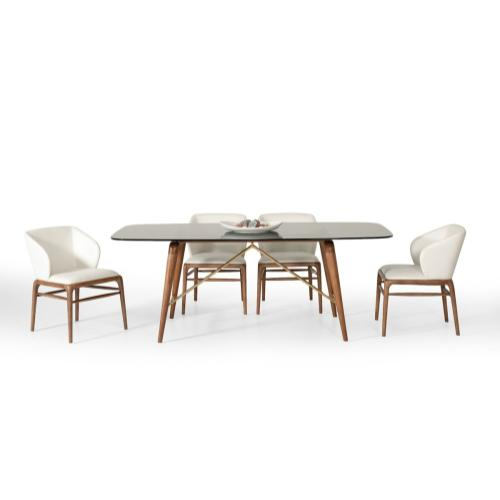 Modrest Kipling Modern Walnut Dining Set