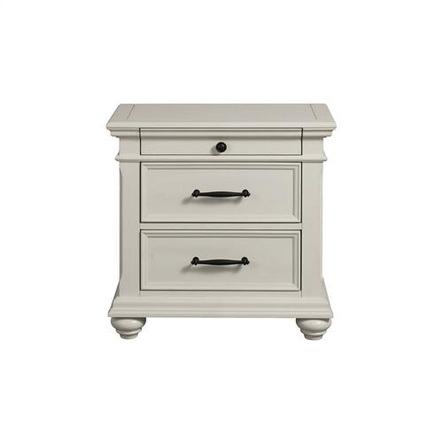 Slater White Bedroom - Queen Bed, Dresser, Mirror, Chest, and Night Stand