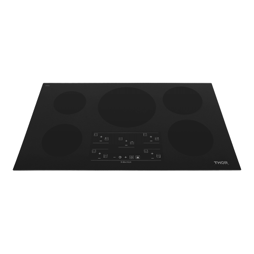 36 Inch Induction Cooktop In Black Glass With 5 Elements