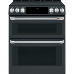 "GE30"" Smart Slide-In, Front-Control, Radiant and Convection Double-Oven Range"