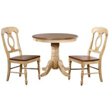 See Details - Round Dining Set w/Napoleon Chairs (3 piece)
