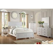 Adeline Master Bed, QUEEN, White