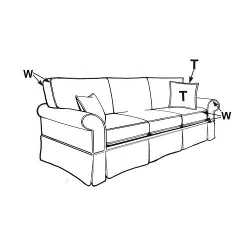 Capris Furniture - Queen Slipcover Sofa