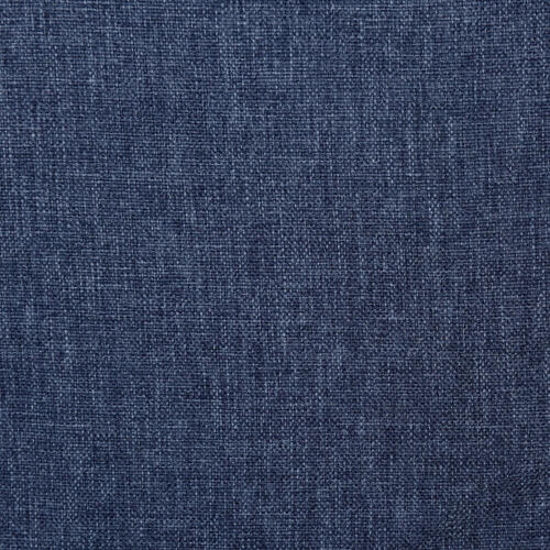 Denim Blue Upholstered Twin Bed with Double Nail Head Trim