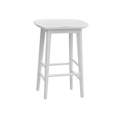 """Gallery - Hilton 24"""" Backless Counter Stool, White"""