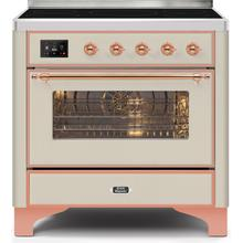 36 Inch Antique White Electric Freestanding Range