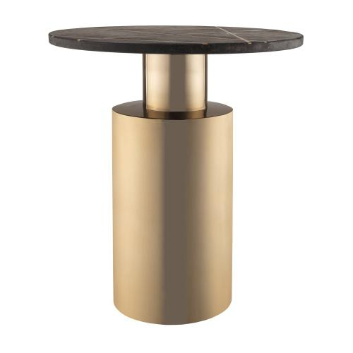 Tov Furniture - Terzo Black Marble Side Table
