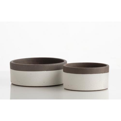 Alfresco Home - Sugar Petits Pots w/ attchd saucer, Set of 2 (Min 4 sets)