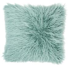 "Faux Fur Bj101 Celadon 17"" X 17"" Throw Pillow"