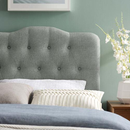 Annabel Twin Upholstered Fabric Headboard in Gray