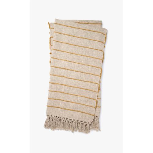 T1039 MH Natural / Gold Throw