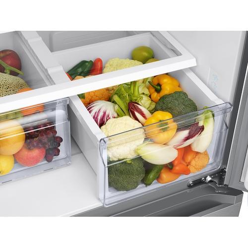 Samsung - 19.5 cu. ft. Smart 3-Door French Door Refrigerator in Stainless Steel