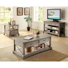 See Details - Side Table - Shenandoah Barnwood Finish