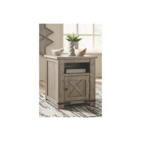 Aldwin Rectangular End Table Gray
