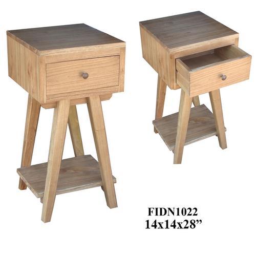 "Product Image - 14X14X28"" SOLID MINDI WOOD END TABLE,2 PCS KD/ 3.33'"