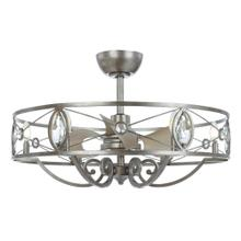 Solitaire 6-Light LED Chandelier with Fan