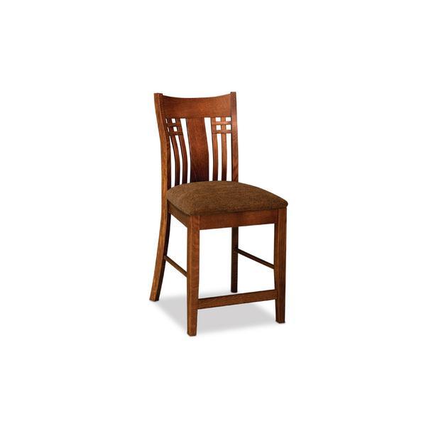 "Bradley Stationary Barstool, Bradley Stationary Barstool, 30""h, Fabric Seat"