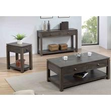 Living Room Table Set w/Drawers and Shelves - Shades of Gray (3 Piece)