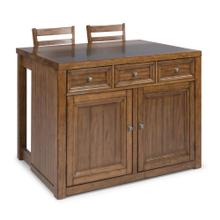 Sedona 3 Piece Kitchen Island Set
