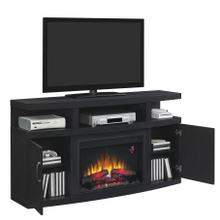 "Cantilever TV Stand for TVs up to 65"", Embossing Oak (Electric Fireplace Insert sold separately)"