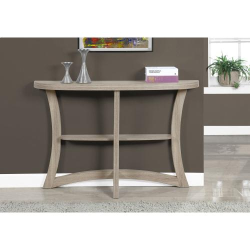 """ACCENT TABLE - 47""""L / DARK TAUPE HALL CONSOLE"""