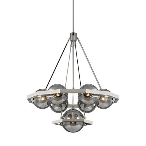 Harper Large Chandelier Polished Nickel