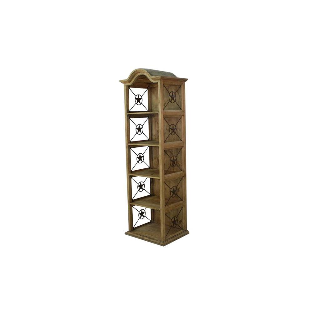 """See Details - 24"""" Bookcase W/Iron Stars"""