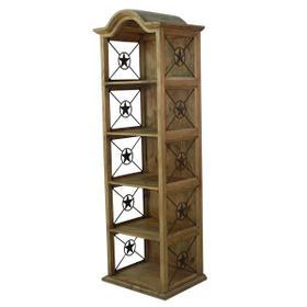 "24"" Bookcase W/Iron Stars"