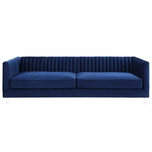Tov Furniture - Aviator Blue Velvet Sofa