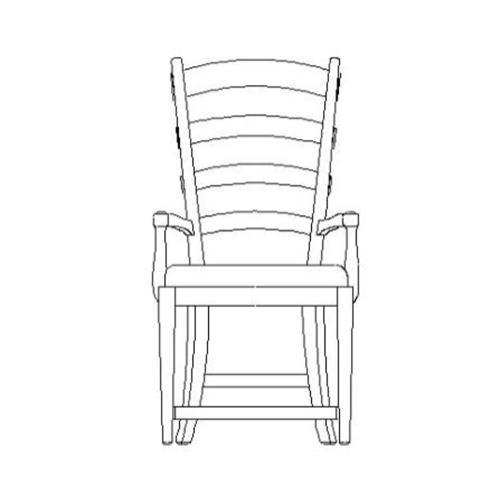 Natural oak ladderback style arm chair