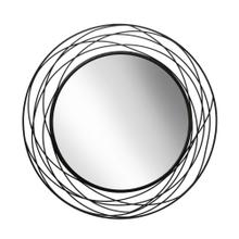 "Metal 36"" Swirl Mirror, Black Wb"