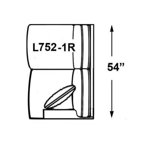 Sectional Component-One Arm Loveseat, Available in Grey Wash, Cottage White, Royal Oak, Black Teak, White Teak, Vintage Smoke, Hampton Grey Finish.