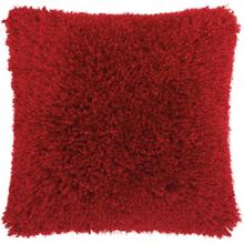 "Shag Tl003 Red 20"" X 20"" Throw Pillow"