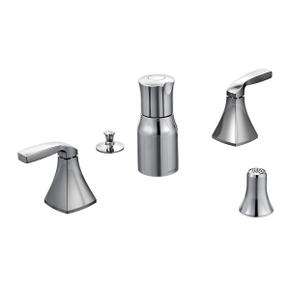 Voss chrome two-handle bidet faucet
