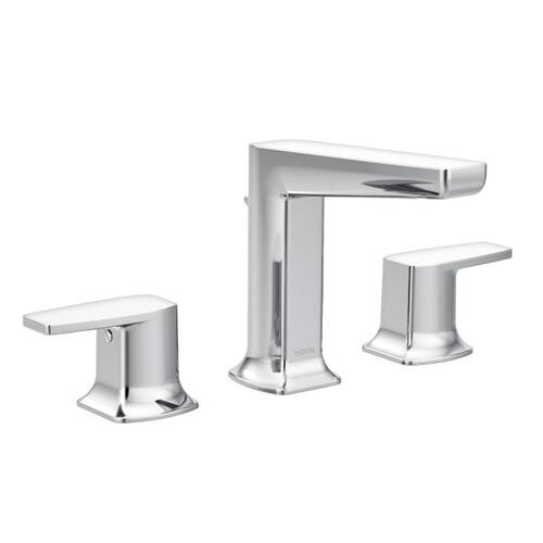 Via chrome two-handle bathroom faucet